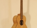 GRENOSI Tenor Ukulele Curly Ash slant view bass